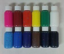 Silk Screen Printing Ink, Print w Emulsion on Mesh Sheets  (12) 1 oz. bottles