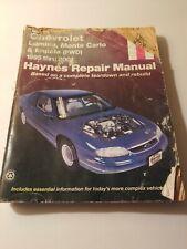 Chevrolet Lumina, Monte Carlo, Impala (95-01)_Haynes Repair Manual 24048