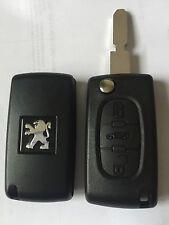 Coque de clé PLIP télécommande Peugeot 607 phase 2 avec 3 boutons Réf: CE0523