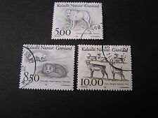 Greenland, Scott # 262-264(3),Complete Set 1993 Native Animals Issue Used