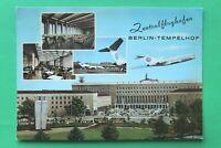 AK Berlin Tempelhof 1960-70er Zentralflughafen Terminal Café Autos Busse