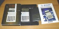 Calculatrice electronique CASIO FX-4000P FX 4000 P avec boite et notice