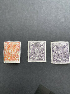British East Africa 1897 Queen Victoria SG 93, SG 94 MH Stamp
