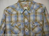 WRANGLER Western Cowboy Shirt Size Men's Size XXL Pearl Snaps Long Sleeve NEW