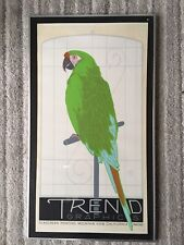Vintage 80 deco revival framed print mounted 'Parrot' Trend Graphics' Ken Perry