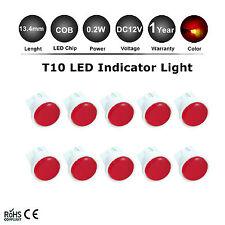 20x Red LED Bulb Car Indicator Turn Side Globe Parking Light W5W T10 Wedge 12V