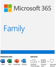 Microsoft 365 Family 1 Year Subscription 6 Users - Read Description! Office Home