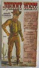 Johnny West Action Figure by Louis Marx - 1965 - Original Box - #2062