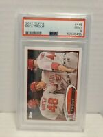 2012 TOPPS #446 MIKE TROUT PSA 9 MINT ANGELS 2nd Year