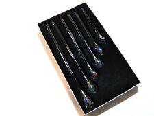 6 Glastropfen Irisiert zum Hängen Glas Tropfen Dekoration NEU