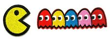 Pac Man Patch Pac-Man Pacman Ghosts Inky Blinky Pinky Clyde Shadow Patch Set