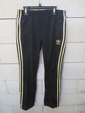 Pantalon ADIDAS rétro vintage noir doré Trefoil sport détente loisir pant 36