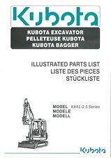 Kubota KX41-2 S Series Parts Manual (B297)