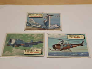 Planes - Vintage 1957 TCG Trading Cards  x 3 Cards