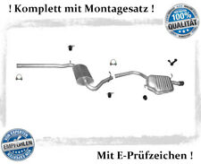 Auspuffanlage Audi A4 ( B6, B7 ) 1.6 Stufenheck, Avant Auspuff Montagesatz Chrom