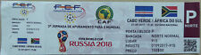 Sammler Ticket 2018 FIFA WORLD CUP Qualifier CAPE VERDE - SOUTH AFRICA Cabo