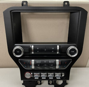 """2015-2019 Ford Mustang OEM Trim 8"""" Touch Screen Radio Display Dual Zone Bezel"""