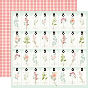 """Carta Bella - Farmhouse Market - TAGS - 12x12"""" d/sided paper"""