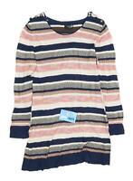 Aftershock Womens Size L Striped Cotton Multi-Coloured Dress Jumper (Regular)