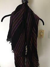 Aritzia Wilfred Striped Wool Blanket Scarf