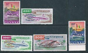 Guinea - 1960 Olympic Overprints - Un-mounted mint set