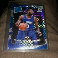 2017-18 DONRUSS OPTIC SINDARIUS THORNWELL CHECKERBOARD PRIZM RC RATED ROOKIE SSP