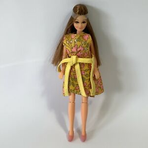 Vintage 1970's Palitoy Pippa Doll Rosemary Mail Away + Dress Shoes Hair In Band