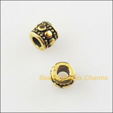 12Pcs Antiqued Silver Tone Tiny Tube Spacer Beads Charms 7mm
