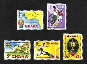 Ghana 1959 West African Football Competition full set of 5v. (SG 228-232) used