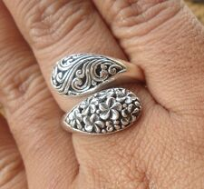 925 Sterling Silver-Lh80-Balinese Hand Made Ring Adj Size Unique Size 7
