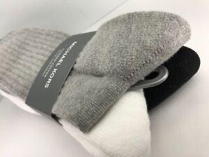 Men's Michael KORS black white 81% COTTON Crew Socks - 3 Pack - $36 MSRP 🧦⛵️