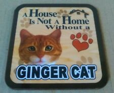 A House Is Not A Home Without A Ginger Cat  -  Drinks Coaster