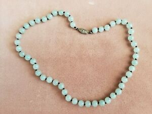"""GENUINE * AVENTURINE * STONE NECKLACE 18"""" Long, 8 mm Stone, Hand-Made in USA"""