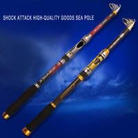 Portable Carbon Fiber Travel Telescopic Fishing Rod Sea Spinning Sea Pole