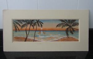 Pastel Drawing Tropical Sunset by Clark Gibson - Art Work
