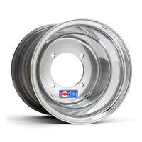 "DWT Polished Rear Wheel Sport Blue 10"" 10x10 4/115 Yamaha Raptor YFZ450 Banshee"