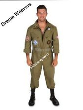 MILITARY WING MAN AIR FORCE ADULT HALLOWEEN COSTUME MEN'S PLUS SIZE 1X