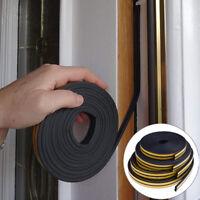 10M Draught Excluder Self Adhesive Rubber Door Window Seal Strip Roll Foam TEUS