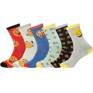 Boys Girls Funky Emoji Socks Designer Children Ankle Socks School Sizes