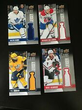 2019-20 UD Series 1 UD Game Jersey 4 card lot Subban Kadri Gallagher Seabrook