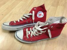 Vtg 1980's Extremely Rare Stadia Canvas Hi Top Basketball Skate Shoes Men's 9