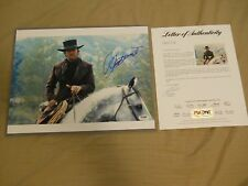 CLINT EASTWOOD SIGNED 11x14 PHOTO PSA/DNA LOA AUTOGRAPHED PALE RIDER PREACHER