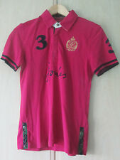 ladies JOULES ROSE PINK COTTON POLO SHIRT UK SIZE 8