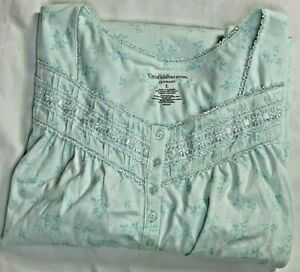 CROFT & BARROW Intimates Cotton bland  Knit Nightgown NEW size Large