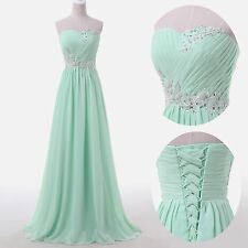 Women Long Dress Wedding Evening Gown Ball Bridesmaid For Formal Prom Party R1/.