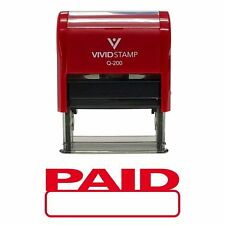 Basic PAID Self Inking Rubber Stamp Red Ink - Medium