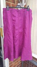 Full Length Linen Patternless Unbranded Skirts for Women