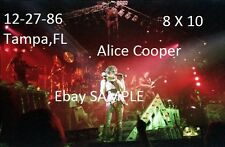Alice Cooper 1986 8 X 10 Color Photo 1 Tampa,Fl Welcome To My Nightmare