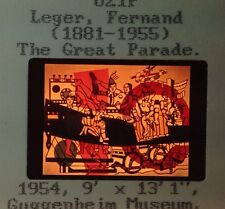 """Fernand Leger """"The Great Parade 1954"""" 35mm French Cubist Cubism Art Slide"""