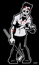 *BLOODY* Zombie Dad Man Male Father Family Car Decal Sticker  +  **FREE DECAL**